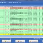 Pregled izlaznih računa (zeleno-plaćeno, crveno-nije plaćeno)